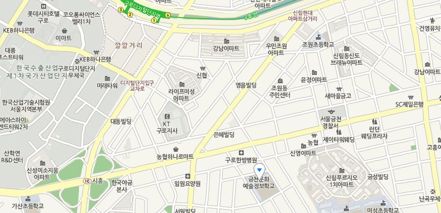 서울시 금천구 남부순환로 126길 25 금천문화예술정보학교 1층 남부SOS통합Wee센터